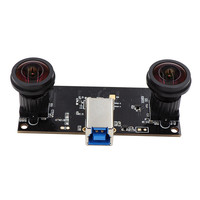 Face Recognition Fisheye 180 degree Wide Angle Dual Lens USB3.0 Camera Module Synchronization 1.3MP 960P UVC 3D VR Stereo Webcam