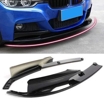 2 stks/set Voorbumper Lip Cover Carbon Fiber Oppervlak voor BMW F30 3 Serie M Stijl 2012-2018 Alleen voor Sport Versie