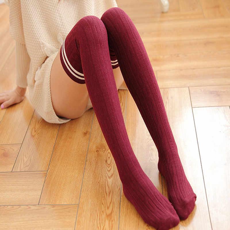 Japanese Women Girls Socks Mid Tube Cotton Socks Boots Long Tube Socks Hosiery