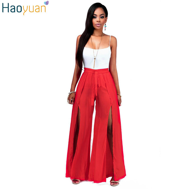 HAOYUAN Women Sexy Two Piece Set Off Shoulder Bodycon Crop Top And Loose Pants Tracksuit 2 Piece Set Ladies Crop Top Pants Set