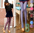 2016 Women Hot bar lace flower totem candy color jacquard pantyhose retro princess series stockings gaiters boothose