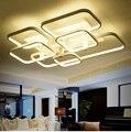 Прямоугольная светодиодная квадратная акриловая потолочная лампа  простая современная креативная гостиная  кабинет  освещение для спальн...