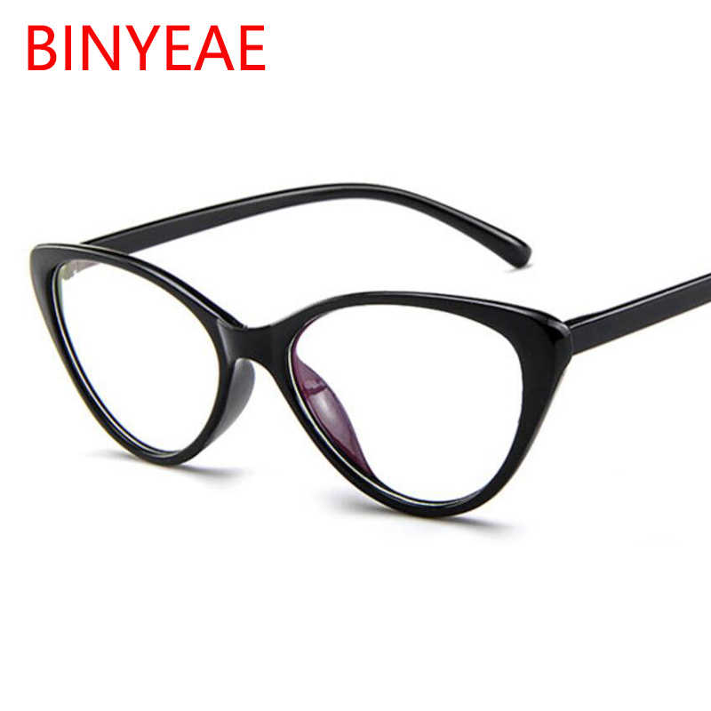a189564c54 Detail Feedback Questions about Small Cat s Eye Glasses Women Transparent  Eye Glasses Frames Fashion Brand Designer Fake Glasses Optical Black  Spectacle ...