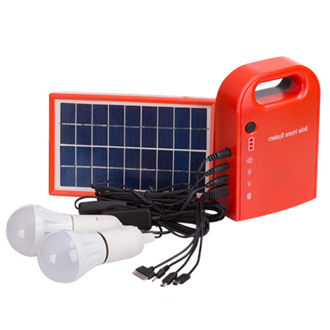 SOPATiO Household Power Photovoltaic Generator Solar Panel System Solar Lamp Battery Charger Cable Emergency Lighting System 2015 1400w mini home solar power system off grid solar battery charger system 4 120 w solar panel for phone lighting sfps1311a