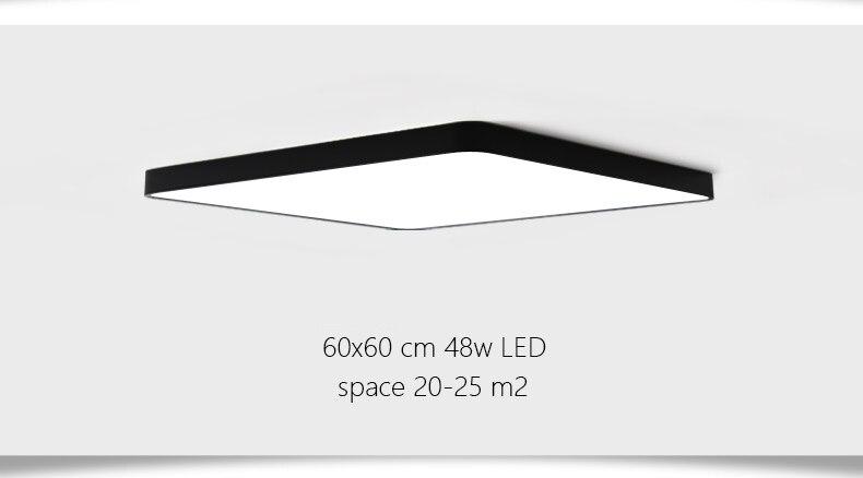 Plafoniere Led 60x60 : Ultra dünne quadratische led deckenbeleuchtung lampen für die