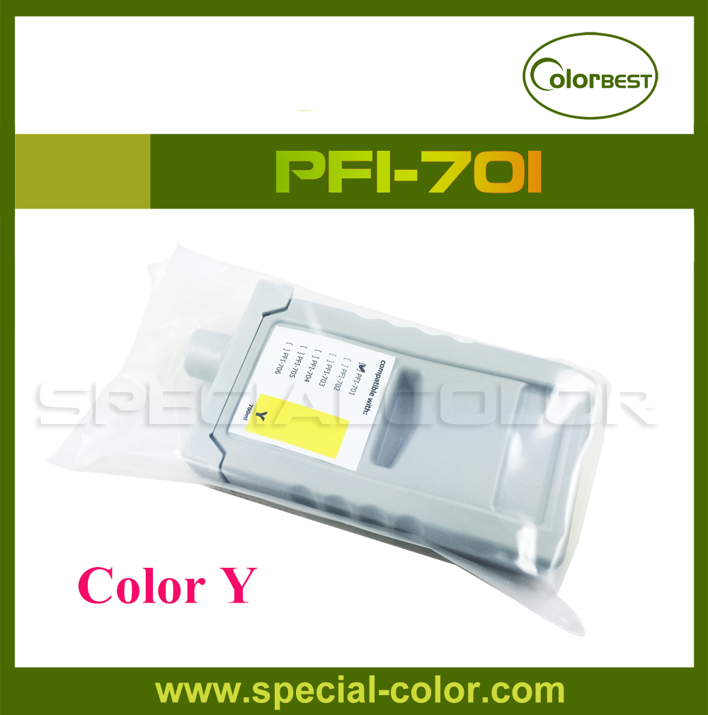 [with chip] Color Yellow PFI-701 IPF 8000/8100/8010/9000/9100/9010 Pigment Ink Cartridge 700ml 12 color set 700ml refillable ink cartridge for canon pfi 701 for canon ipf9000 8000 printer