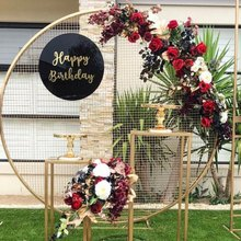 Свадебные Круглые сетчатые арки Свадебные фоновые сетки венок полка для вечерние& кольцо Рамка для воздушных шаров