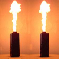(Navio da UE) 2 PC 200 W DMX Efeito de Pulverização De Fogo Flame Thrower DJ Stage Projector Partido Máquina