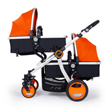 High Quality Twins Baby Stroller Folding Double Seat Pram twins High Landscape Can Sit Lying Shockproof