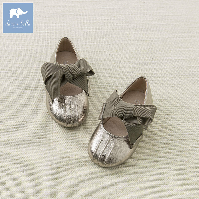 DB6750 Dave Bella summer baby girl leather shoes children princess shoes