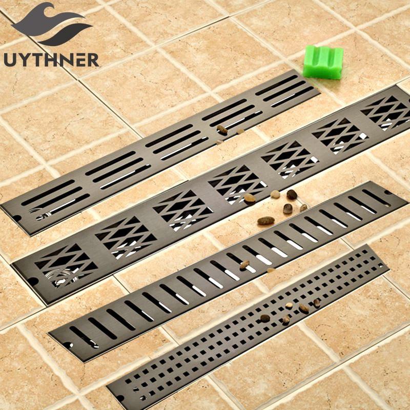 Wholesale and Retail 70 10 cm Ti Black Finish Bathroom Shower Room Floor Drain Deodorization Waste