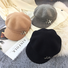 2017 Autumn Winter New Hot Fashion Women Casual Warm Classic Berets Female Woolen Vintage Caps Hats 2018 new autumn and winter popular fashion wing tote genuine leather trapeze women handbags casual big volume shopping bag