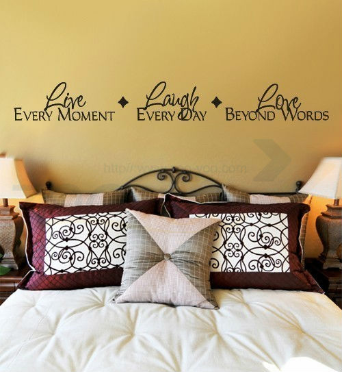 free shipping live every moment laugh and love quote wall decal zooyoo8018 adesivo de pa ...
