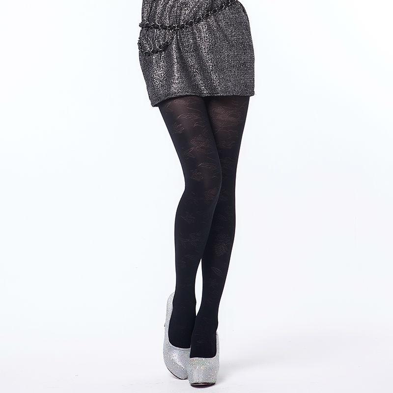 Printemps automne collants 280 deniers motif Jacquard velours collants, Sexy, Fashional et haute élasticité