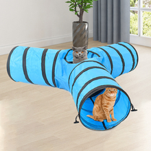 Funny Pet Tunnel Cat Play Brown Foldable 3Holes Kitten Toy Bulk Toys Rabbit Cave