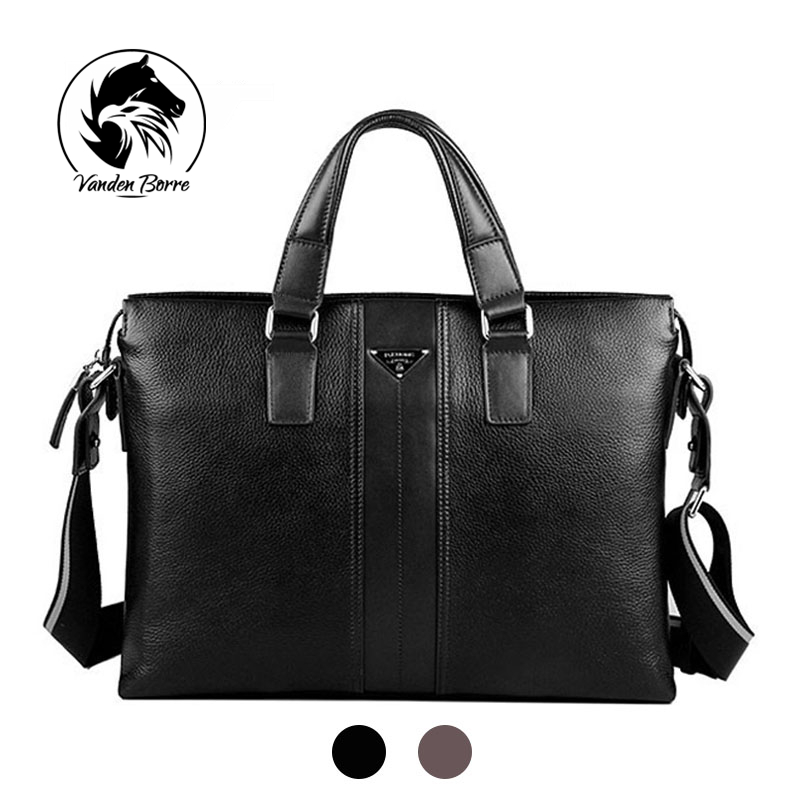 ФОТО 2016 Spring New famous brand messenger bag genuine leather bags for men briefcases men's leather laptop bag briefcase