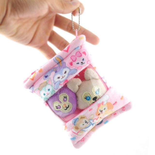 Lanche saco de coelho do cão da maca estilo japonês mercado pingente boneca de brinquedo de pelúcia chaveiro de pelúcia 13*10 cm wj04