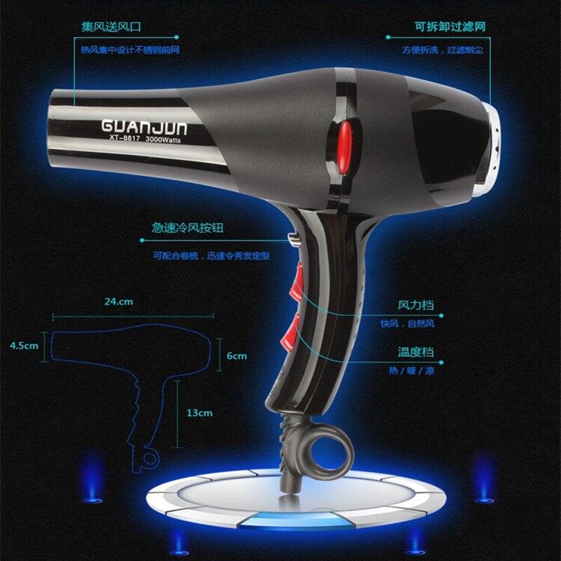 hair dryer cylinder - TBDX51-XT-8817,Professional hair dryer hair dryer cylinder high power 3000w negative ion ventilation fan