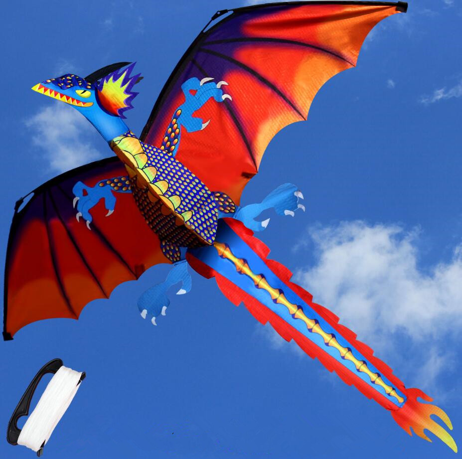 Hot Creative stereo Dragon Kite With Kite Line Outdoor Sports Kite For Children and Adults Easy To Fly High Quality2017