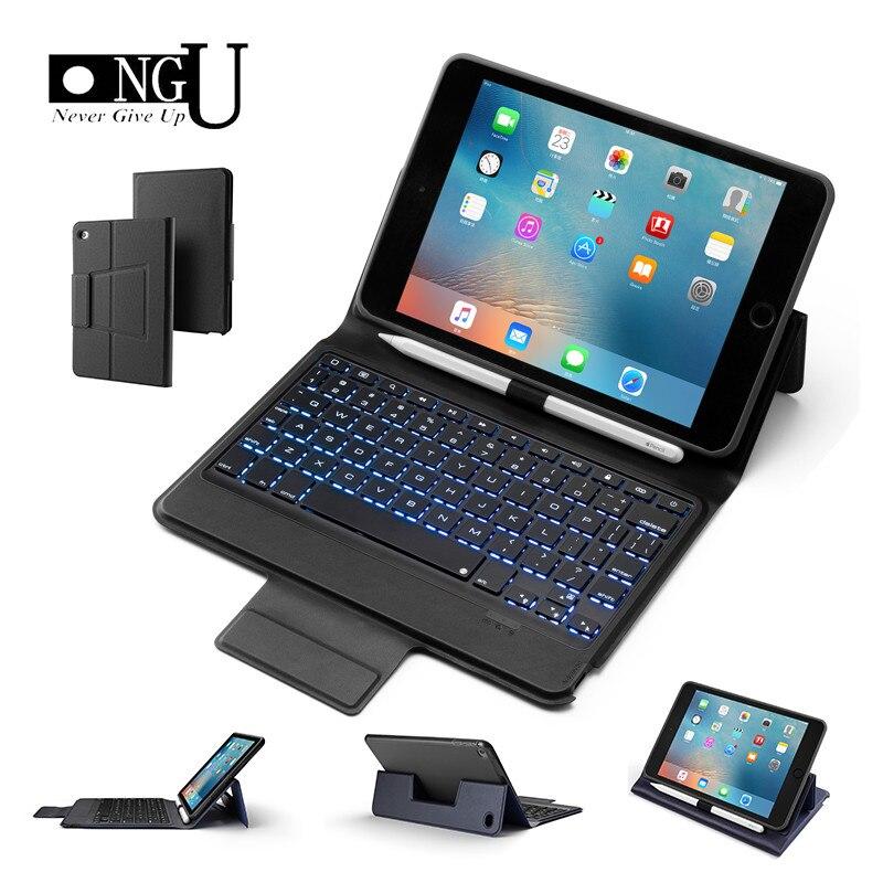 Haute qualité Bluetooth clavier housse pour Apple IPad Mini 4 5 2019 7 couleur rétro-éclairé clavier sans fil pour iPad Mini 5 Mini 4