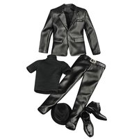 1/6 Doll Clothes PU Leather Jacket Pants Suit Outfit for 12 Inch Male Action Figurine Doll Accessories Decoration Toys Gift