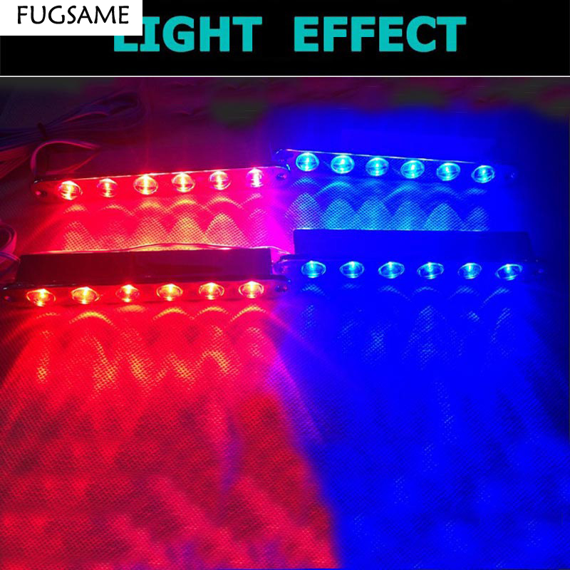 FUGSAME Wireless remote control car strobe light bright 24led lamp net lights red blue white in Signal Lamp from Automobiles Motorcycles
