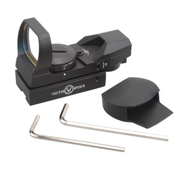 Vector Optics IMP 1x23x34 Multi 4 Reticles Reflex Open Red Dot Sight Scope with 11mm Dovetail Mount Base