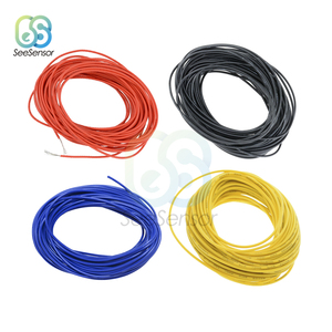 10 Meters UL1007 PVC Wire Ultra Flexiable Cable 24AWG Wire PVC Electronic Cable Red/Black/Blue/Yellow