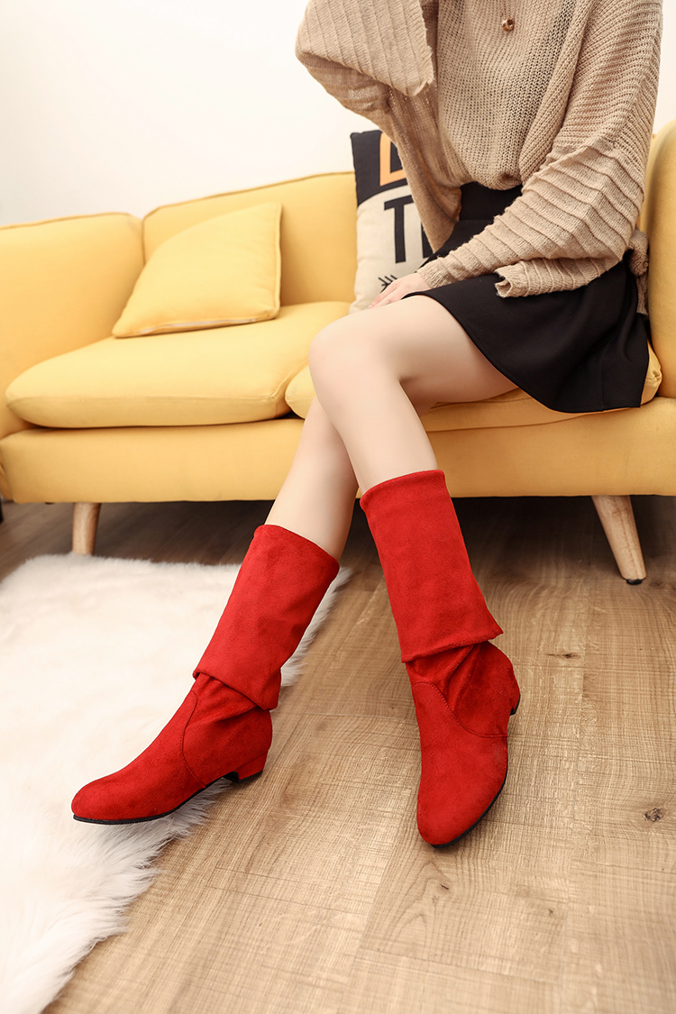 Knee High Boots Fashion Shoes Woman Autumn Cowboy For Boot Wanita Over Women Bottes Femme Sepatu Upd289