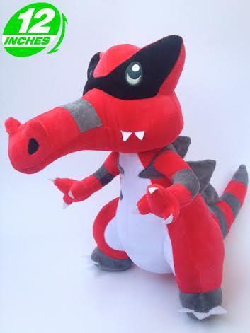 "Free Shipping Creative Japanese Anime Pokemon Plush Toys12"" Krookodile Dolls Stuffed Animal Toys For Christmas Boys Toys"