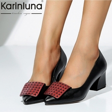 Karinluna Fashion Large Size 34-43 Genuine Leather Square He