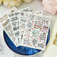 Hello Spring Rub On set for Scrapbooking DIY Projects/Photo Album/Card Making Crafts