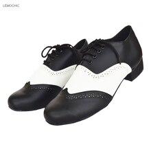 LEMOCHIC new salsa jazz samba tango rumba dancing ballroom cha cha women latin pointe low heel belly step dance shoes on sale