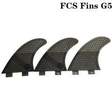 FCS G5 Quilhas Fins Surfboard Fin Honeycomb Fibreglass Black color