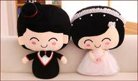 50CM 4 Styles China Red Good Moral 1 Pair Wedding Doll Bride and Groom Kiss Wedding Gift Pillow Doll Best Gift H 13