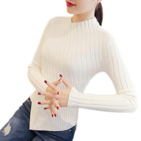 Women Half High Collar Winter Sweater Women 2017 Long Sleeve Knitted Women Sweaters And Pullovers Female