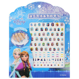 frozen elsa anna Nail Stickers Toy new Disney Sofia White snow Princess girls sticker toys for girlfriend kids gift(China)