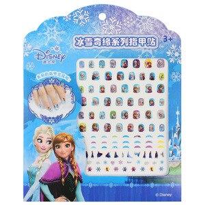 frozen elsa anna Nail Stickers Toy new Disney Sofia White snow Princess girls sticker toys for girlfriend kids gift(China)