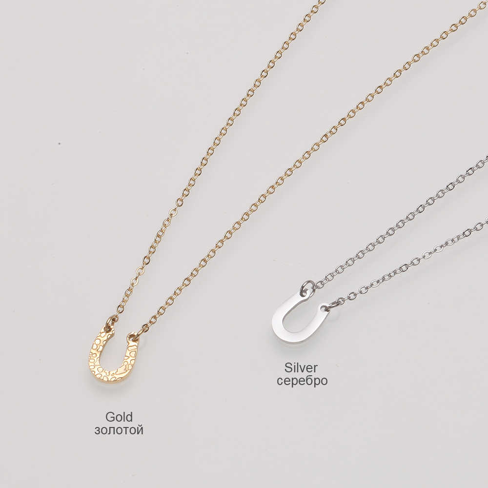 Stainless Steel Gold Chain Necklace Trendy Punk Chokers Necklaces For Women U Shape Charm Necklace Jewelry collares de moda 2019