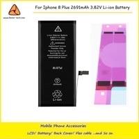 2PCS Lot High Quality OEM 0 Zero Cycle Original Li Ion Battery For IPhone 8 Plus