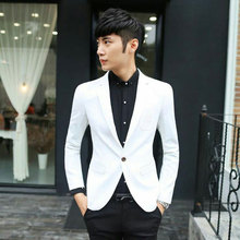 White and Black Men Suits for Wedding Groom Tuxedo 2Piece Coat Pants Slim Fit Terno Masculino Prom Costume Homme Best Man Blazer