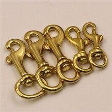 Solid Brass Trigger Swivel Eye Bolt Snap Hook For webbing Leather Craft Bag Strap Belt Hook Clasp Pet Dog Leash Clip цена в Москве и Питере
