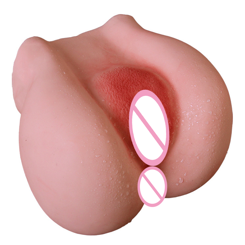 Anal Vagina Double Channel Male Masturbator Big Ass Artificial Realistic Pocket Pussy Dolls Ass For Men Masturbators Sex Toys new anal sex dolls realistic passionate big ass
