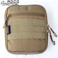 ROCO Dual Zipper Tactical Waist Bags EDC Military EMT First Aid Pouch Medical Bag Travel Tactical