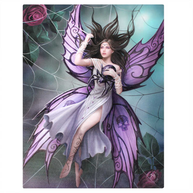 5D Diamond Embroidery Fantasy Fairy Spider Mosaic Pattern Crystal Cross Stitch Square Diamond Painting Home Decoration