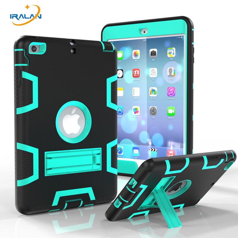 2017 New Kids fashion Shockproof Safe Silicone Case For Apple iPad mini 1 2 3 Tablet PC Armor Heavy Duty Hard Cover+Stylus+Film
