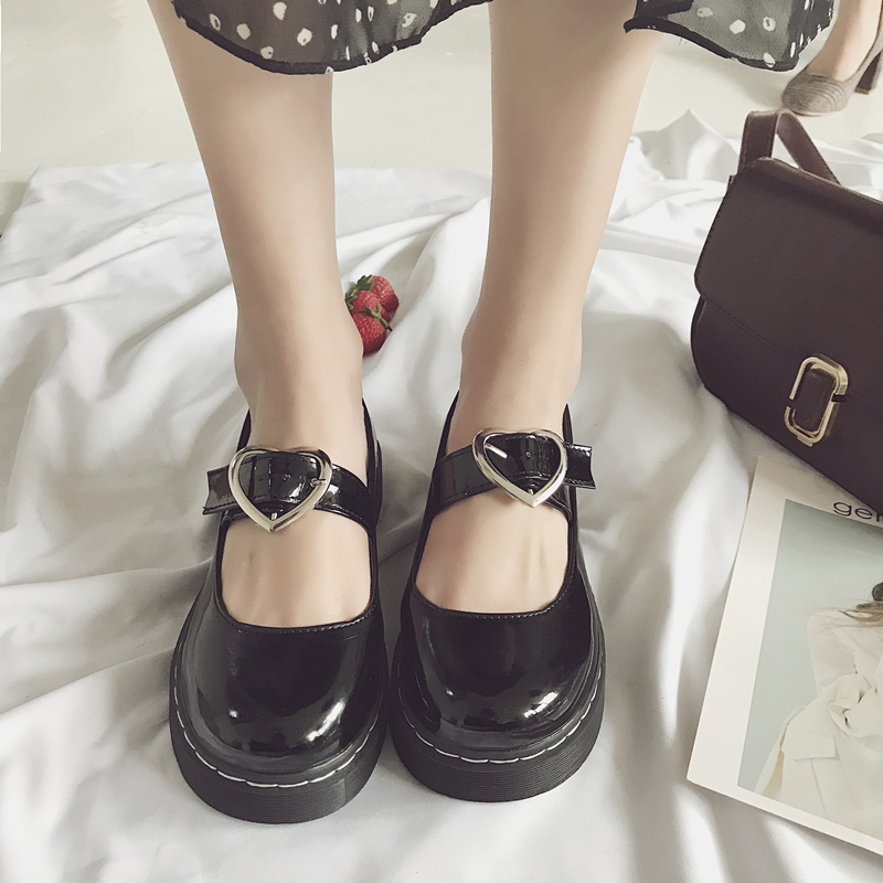 New Hot Japanese Cute Sweet Soft Bottom Shallow Student Flat Shoes.