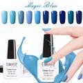 Elite99 УФ База Top Coat Великолепный Синий Цветной Гель Для Ногтей 1 Pc 10 мл Длительный Гель УФ-Лампы Для Ногтей Лак 12 цвета