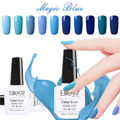 Elite99 uv gel polaco base top coat precioso de color azul 1 Pc 10 ml Barniz de Uñas de Gel Lámpara UV de Larga Duración 12 colores