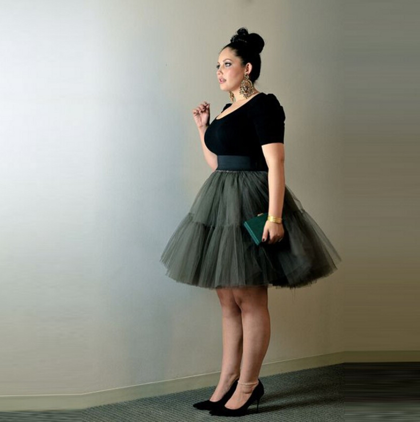 Diseño Especial Mujeres Malla Capas De Guarnición Falda Para Elástica Tutu Tulle Más Alta Cintura Una 5 Faldas Rodilla Con Tamaño Longitud rdIrxzP